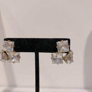 Cluster crystal earring